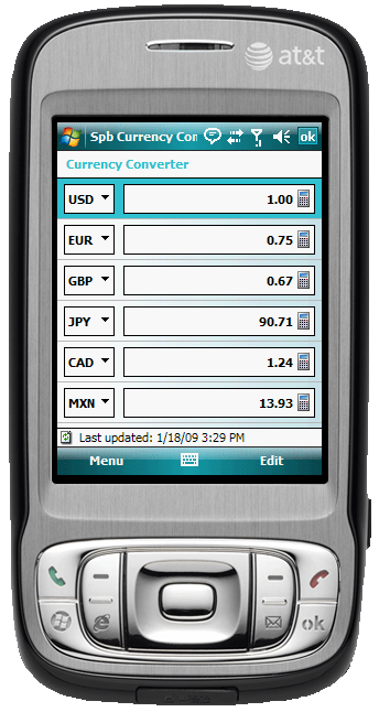 Figure 17:  The Currency converter in Spb Traveler makes it easy to figure out exchange rates on-the-fly