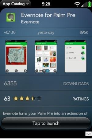 palm pre app evernote.jpg