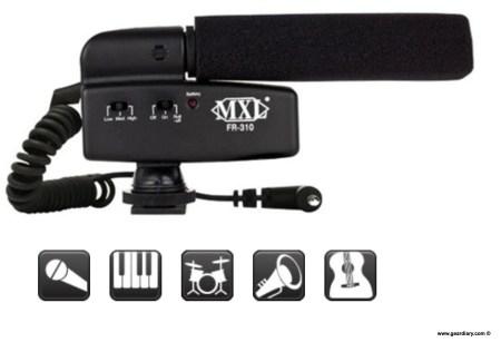 MXL® Microphones  MXL FR 310 Hot Shoe Shotgun Microphone
