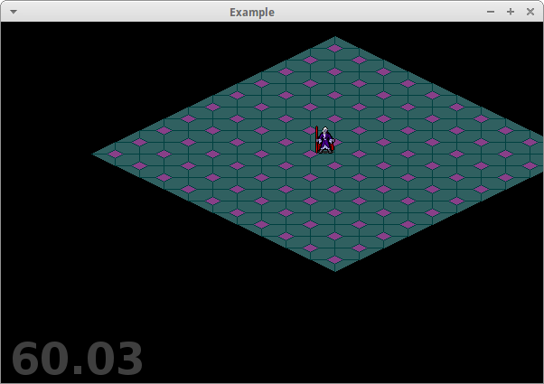 A bare-bones isometric map display working in Pyglet.