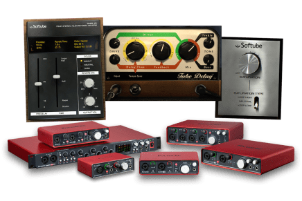 Focusrite audio interfaces now shipping with Softube's Time and Tone Bundle