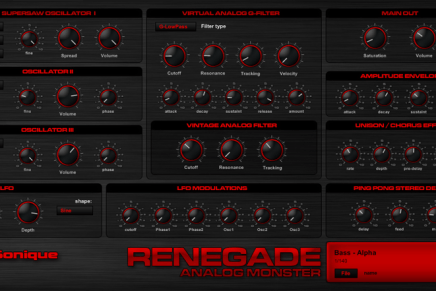 G-Sonique released Renegade plug-in