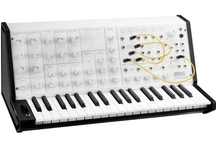 KORG announces limited edition MS-20 mini white analog synthesizer