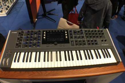 Waldorf shows Quantum 8 Voice hybrid poly synthesizer at Musikmesse 2017