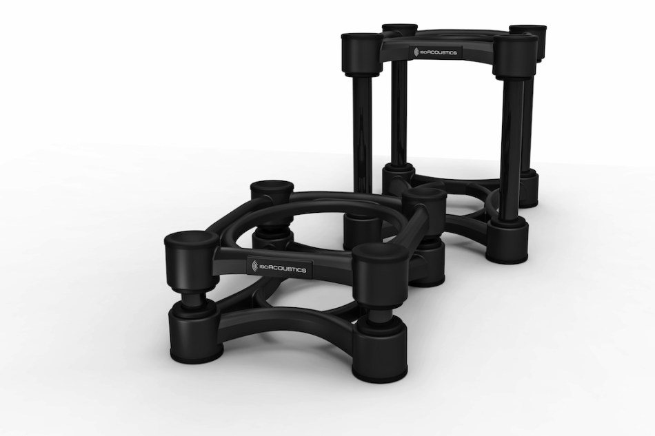 IsoAcoustics launches new ISO series line of acoustic isolation stands for pro audio speakers and subwoofers