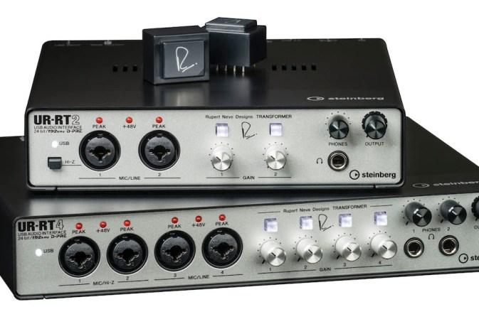 Steinberg announces UR-RT2 and UR-RT4 audio interfaces