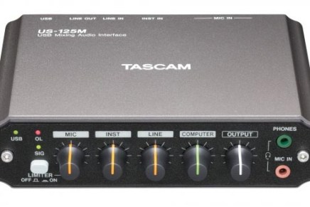 Tascam US-125M USB audio interface with Mixer functionality released