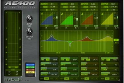 McDSP introduces the AE400 V5 Active EQ Plugin