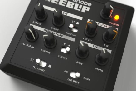 Compact bass synth with analog filter – MeeBlip anode