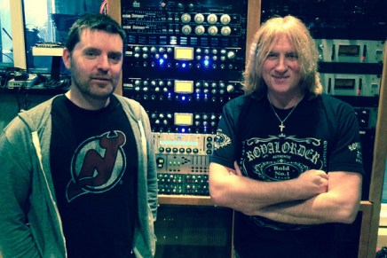 Def Leppard rocking out with the Presonus ADL-700s