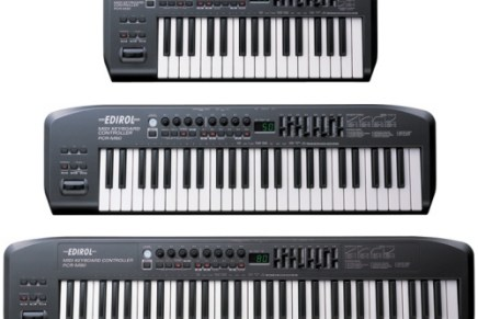 Edirol Introduces 3 new MIDI keyboards