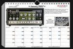 Vintage Gear Calander from Iguana studio and SOS