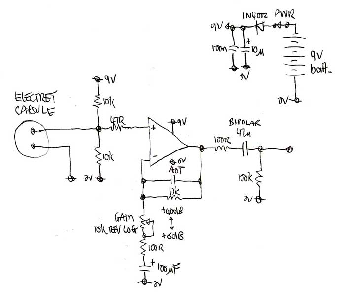 low impedance mic pre amp circuit