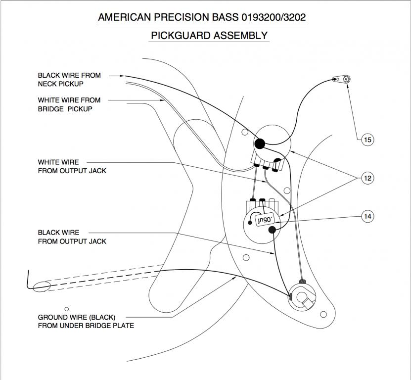 Precision Bass wiring variations and capacitor value - Gearslutz
