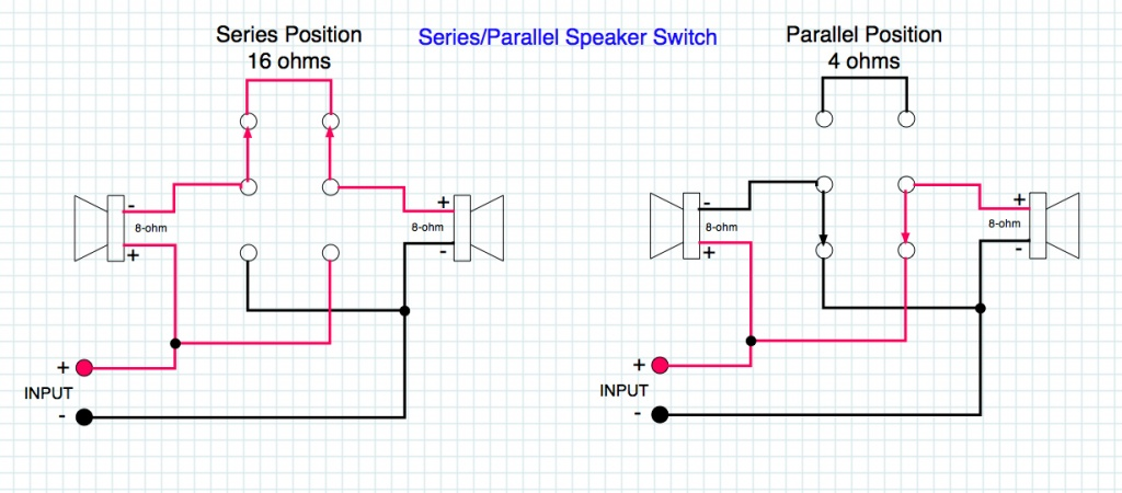 Speaker wiring with an impedance switch - Gearslutz