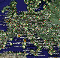 Football Soccer Stadiums in Google Earth