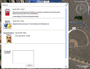 GEBoards forum in Google Earth