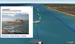 Sarasota Poker Run Motor Boat Race in Google Earth