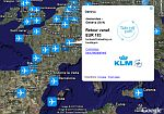 Dutch KLM airfares in Google Earth