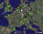 Plazes Social Network in Google Earth
