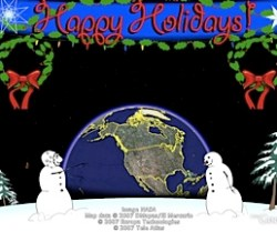 Holiday Greeting in Google Earth