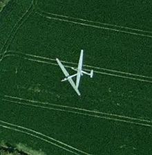 Gliders Crashing in Google Earth