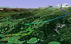 GPSVisualizer GPS track for paraglider  in Google Earth