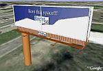 Billboard advertising in Google Earth