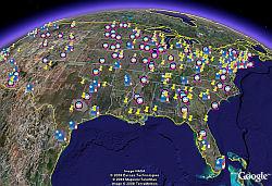 SuperDelegates in Google Earth