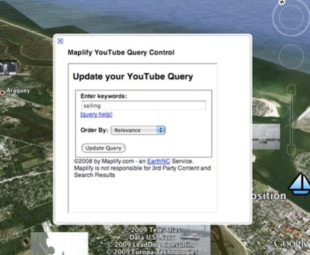 YouTube Query Tool in Google Earth