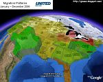US Migration Patterns in Google Earth