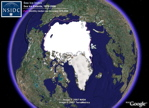 Sea Ice Extent from NSIDC in Google Earth