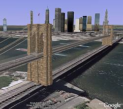 Singapore roads, POIs, and buildings in Google Earth