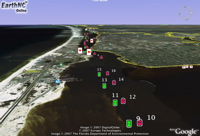 EarthNC DestinSharks boating in Google Earth