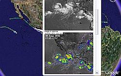 Hurricane John in Google Earth