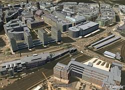 Hamburg in 3D in Google Earth