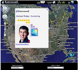 EarthGamz Olympics in Google Earth