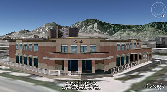 Google Boulder Office in Google Earth