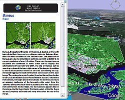UNEP Atlas of Our Changing Environment, Amazon Deforestation in Google Earth