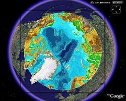 Poles overlay in Google Earth