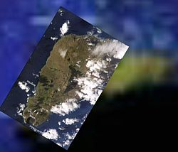 Pacific Islands space shuttle photos by astronauts in Google Earth