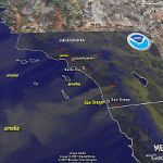 San Diego, California Fires – See Smoke in Google Earth