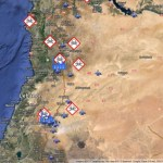 Likely Syrian missile targets in Google Earth