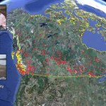 Using Google Earth to track environmental impact