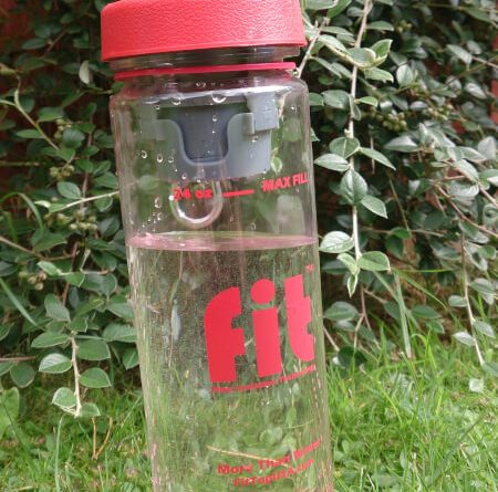 Fit top water bottle
