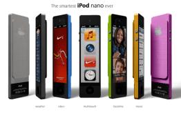 Smarter iPod nano touch – concept