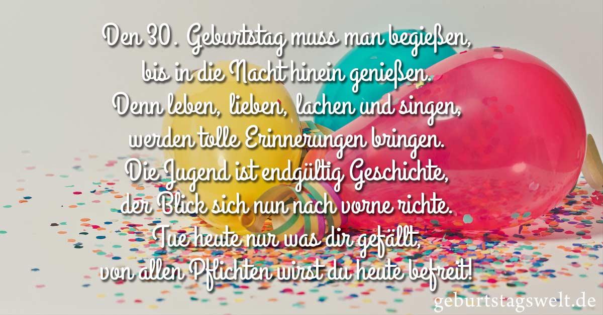 ᐅ Sprüche zum 30 Geburtstag - Herzliche und lustige Glückwünsche