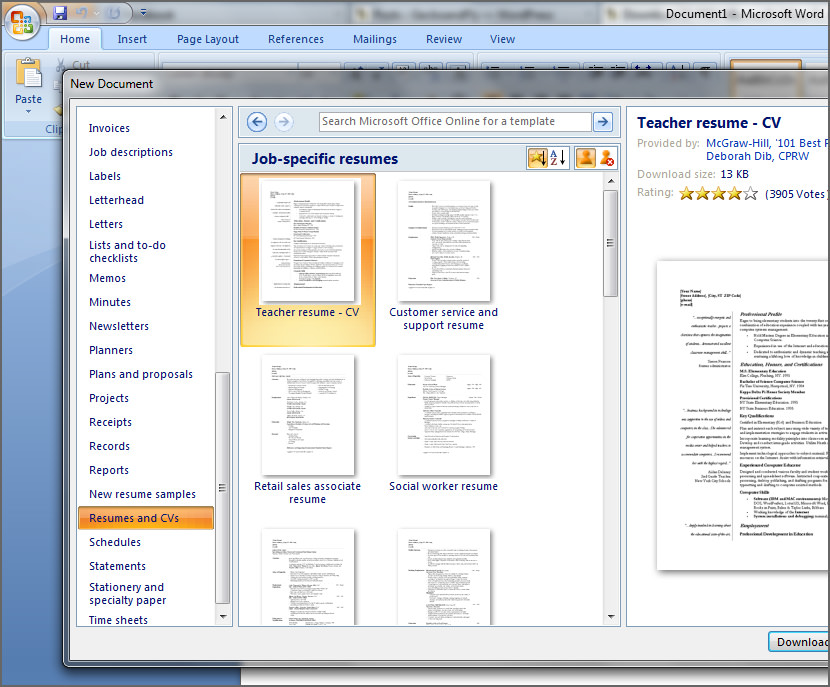 Free Microsoft Office Templates
