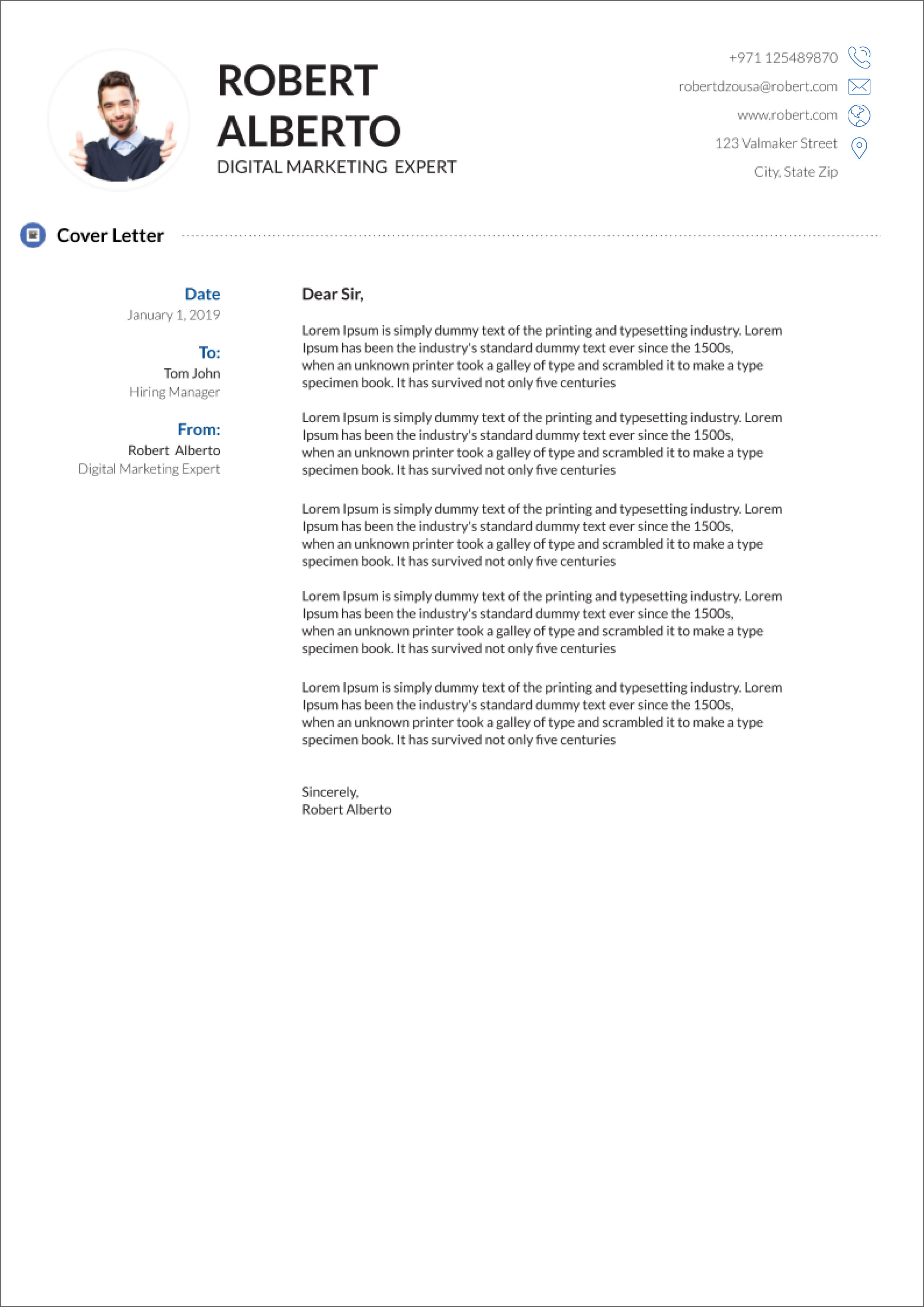 google resume cover letters