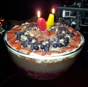 40th birthday trifle
